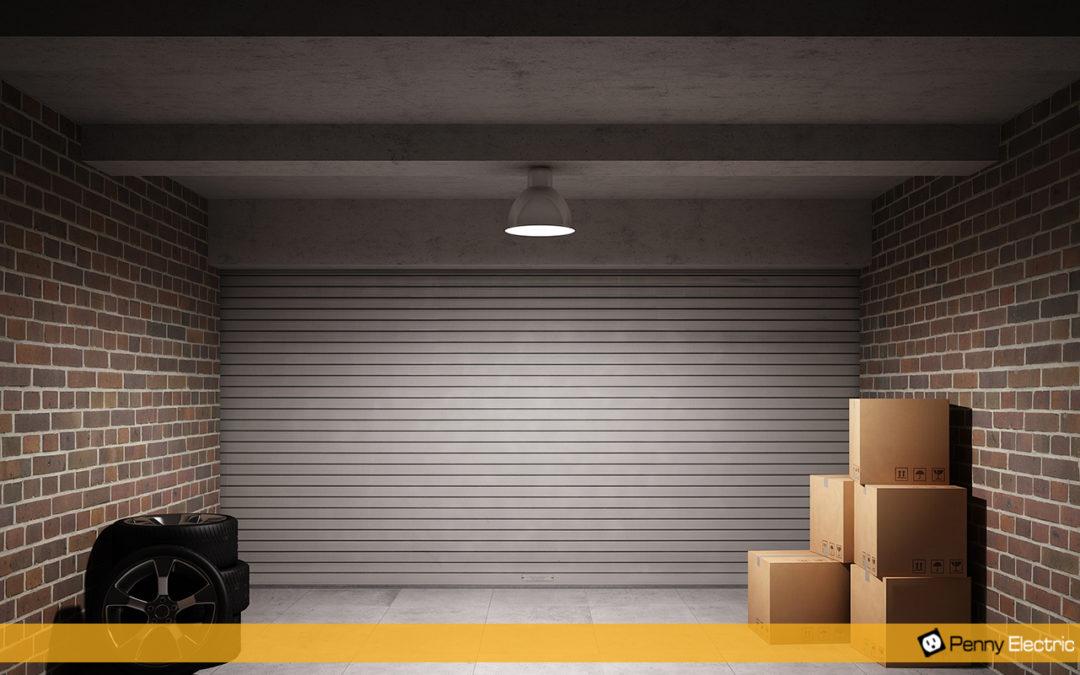 Dark garage that needs a lighting upgrade.